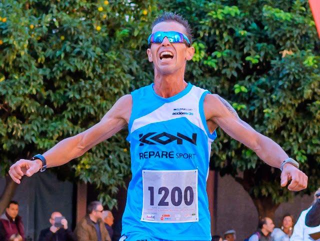 Juan Domingo Gómez, mejor extremeño en la XXX Elvas-Badajoz, jornalero y corredor