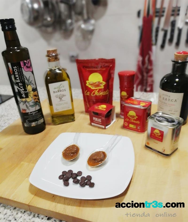 receta caldereta extremeña con salsa de chocolate