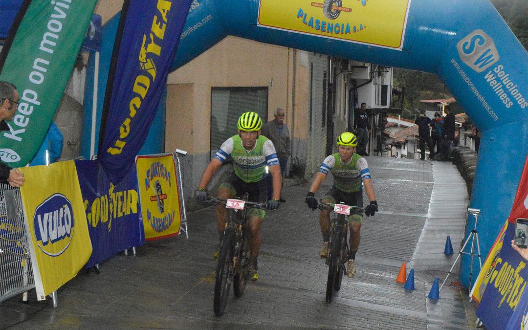 Primeros líderes de la Picota Bike Race by Neumáticos Plasencia tras la prólogo pasada por agua de Cabezuela del Valle