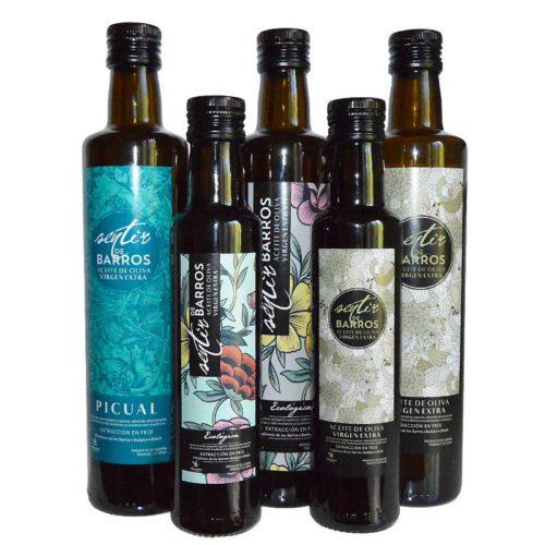 5 botellas AOVE Sentir de Barros