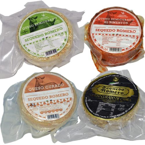 Lote 4 quesos de cabra Sequedo Romero