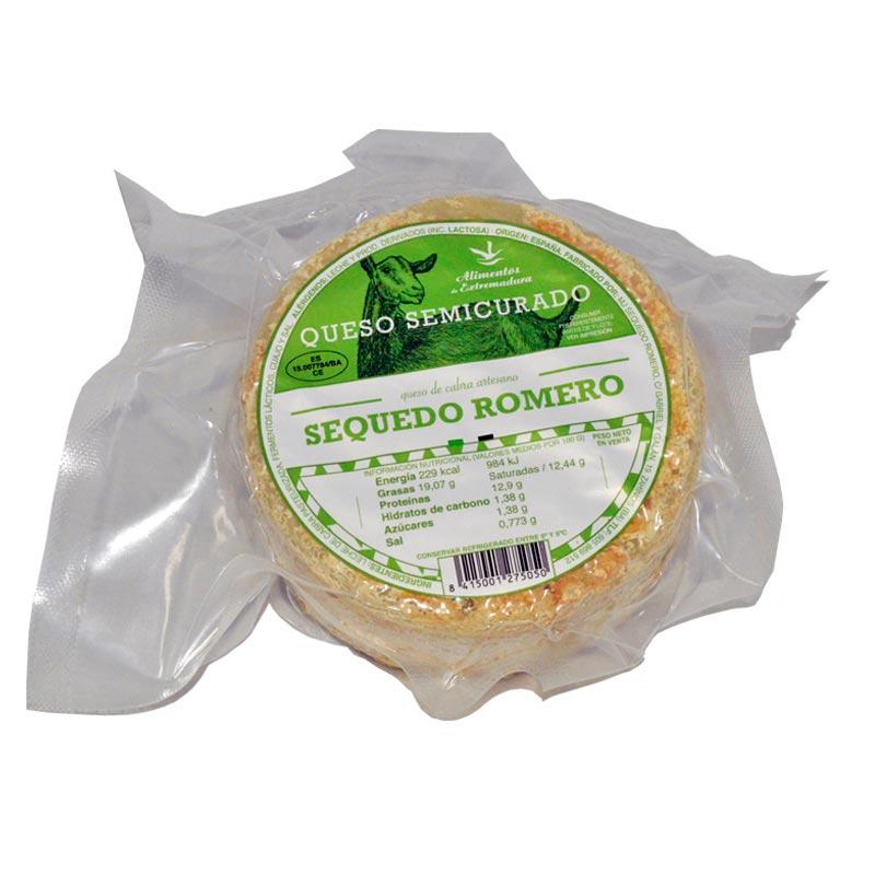 Queso Semicurado de cabra Sequedo Romero