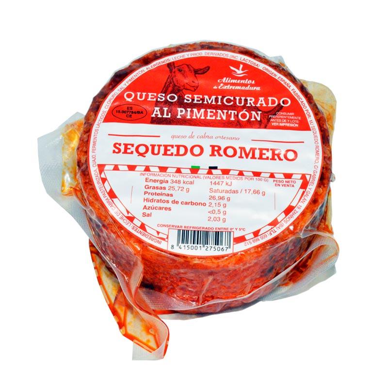 Queso Semicurado de cabra al Pimentón Sequedo Romero
